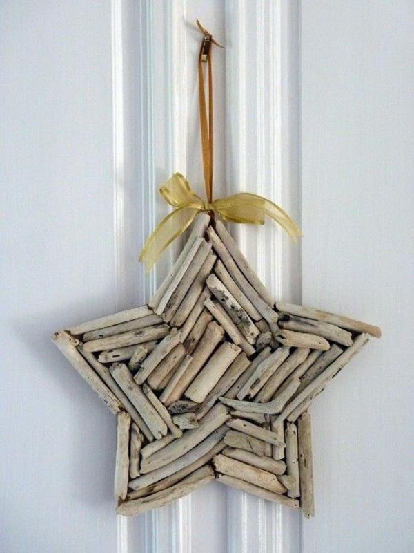 Weihnachtssterne zierband basteln vorlagen kinder holz stücke