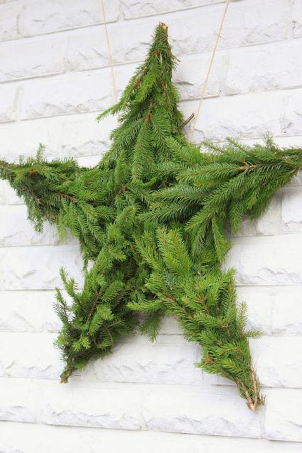 basteln vorlagen kinder kunst Weihnachtssterne tannenbaum