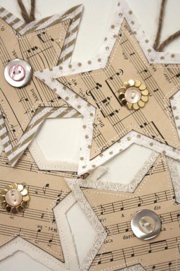vorlagen weihnachtssterne basteln kinder musikalisch