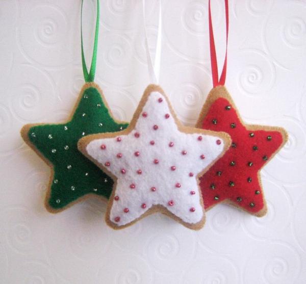 Weihnachtssterne selber basteln vorlagen kinder süße niedliche