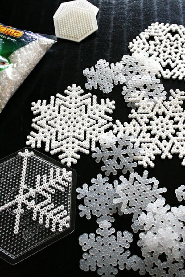 bestandteile weihnachtssterne basteln vorlagen schneeglöckchen