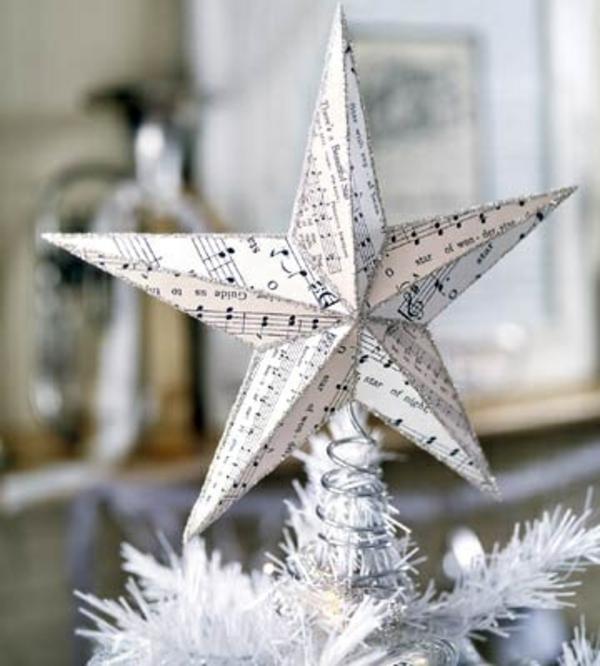 Weihnachtssterne basteln vorlagen kinder spitze