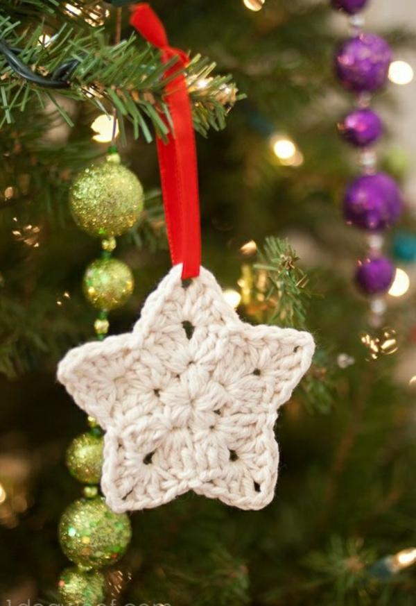 Weihnachtssterne basteln vorlagen kinder weiß stricken