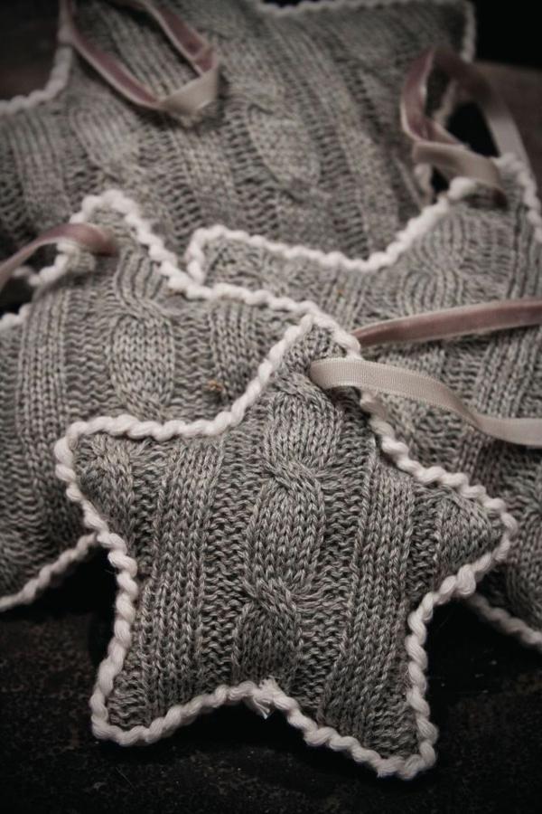 Weihnachtssterne strickwaren filz selber basteln vorlagen kinder