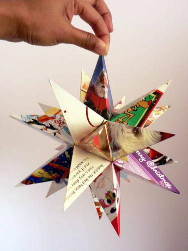 Weihnachtssterne dekoidee basteln vorlagen kinder aus papier