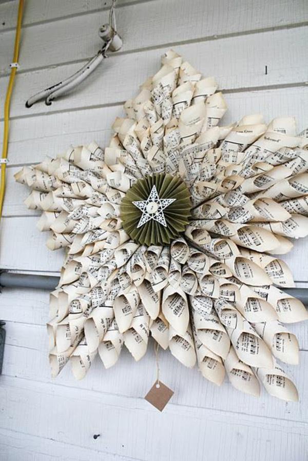 Weihnachtssterne holz platten selber basteln vorlagen kinder papier kunst