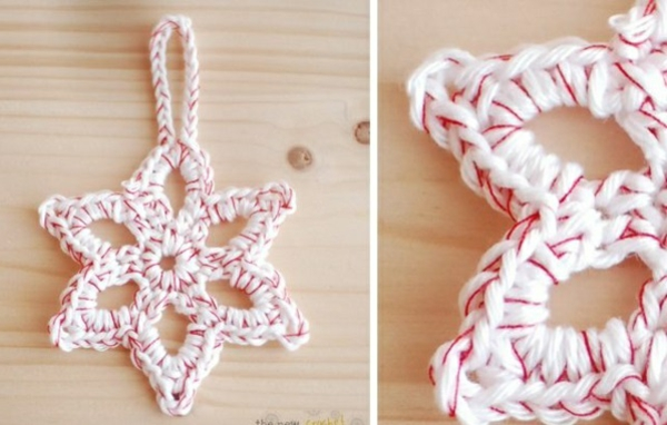 Weihnachtssterne basteln vorlagen kinder stricken rosa