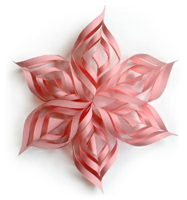 Weihnachtssterne rosa papier selber basteln