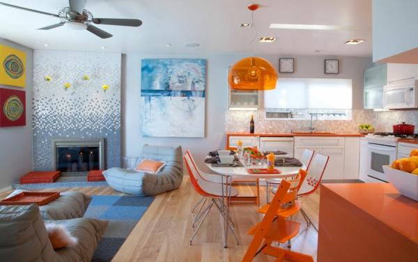 Einrichtungsideen einrichtungstipps transparent orange