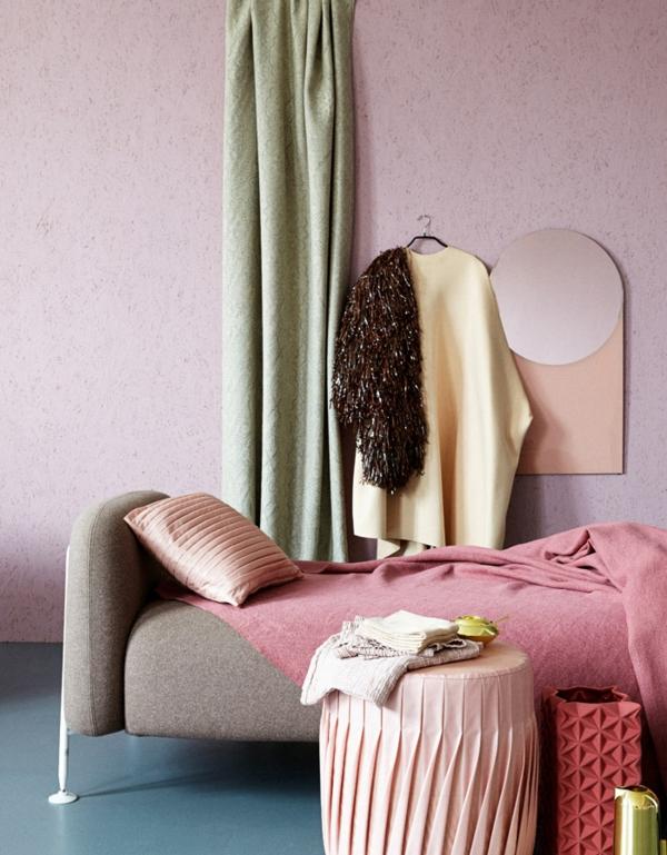 Zimmer Einrichtungsideen rosa wand
