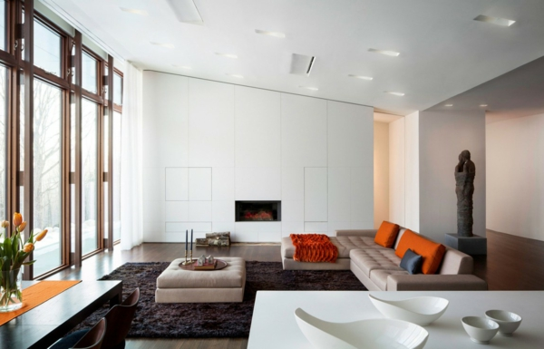 Zimmer sofa Einrichtungsideen wohnen minimalistisch