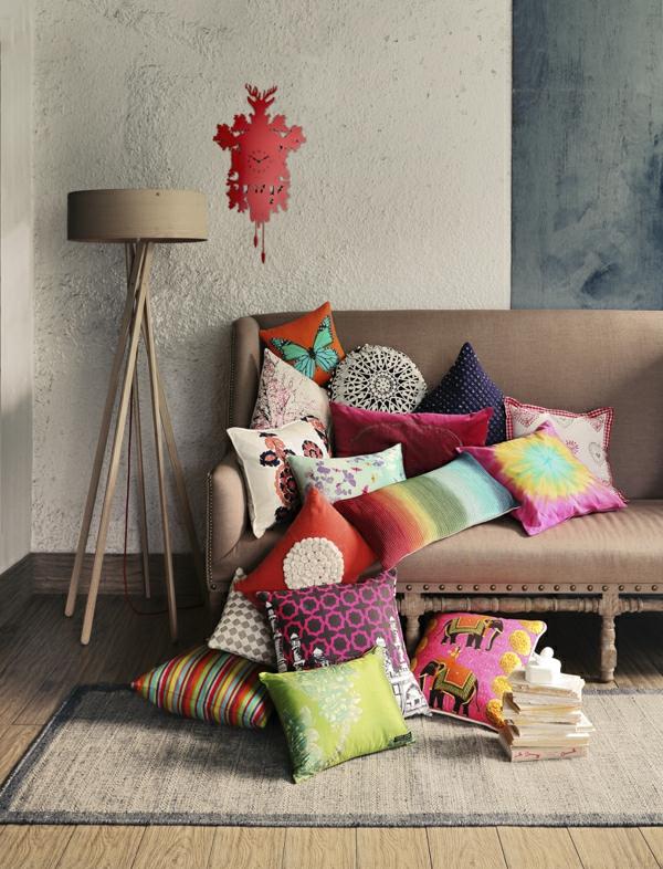 Zimmer charmant Einrichtungsideen wohnen sofa kissen