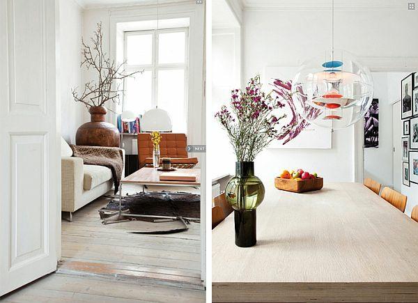 Zimmer vase blumen Einrichtungsideen wohnen weiß wand