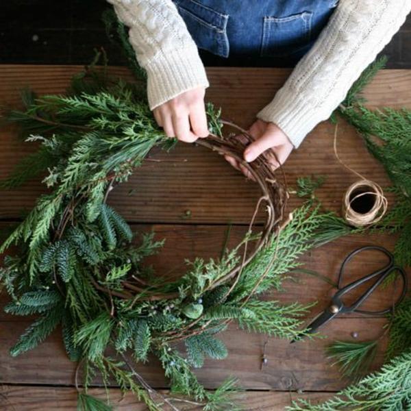 advent-türkranz weihnachten weihnachtsdeko selber basteln
