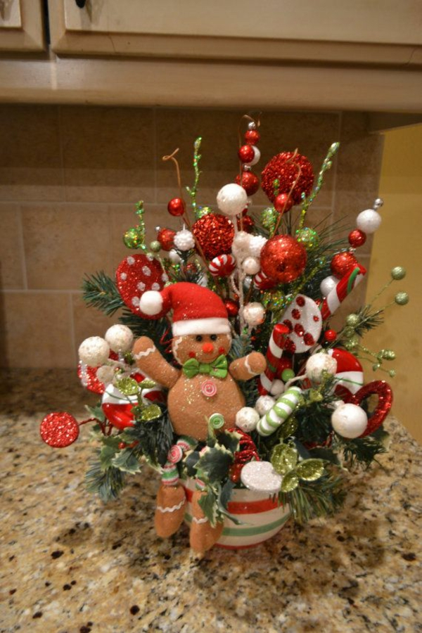 Christmas table decorations - 1001 Ideen Neue Weihnachtsgestecke Selber Machen