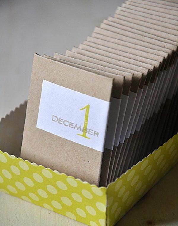 adventskalender selber basteln mit papier papp-umschläge