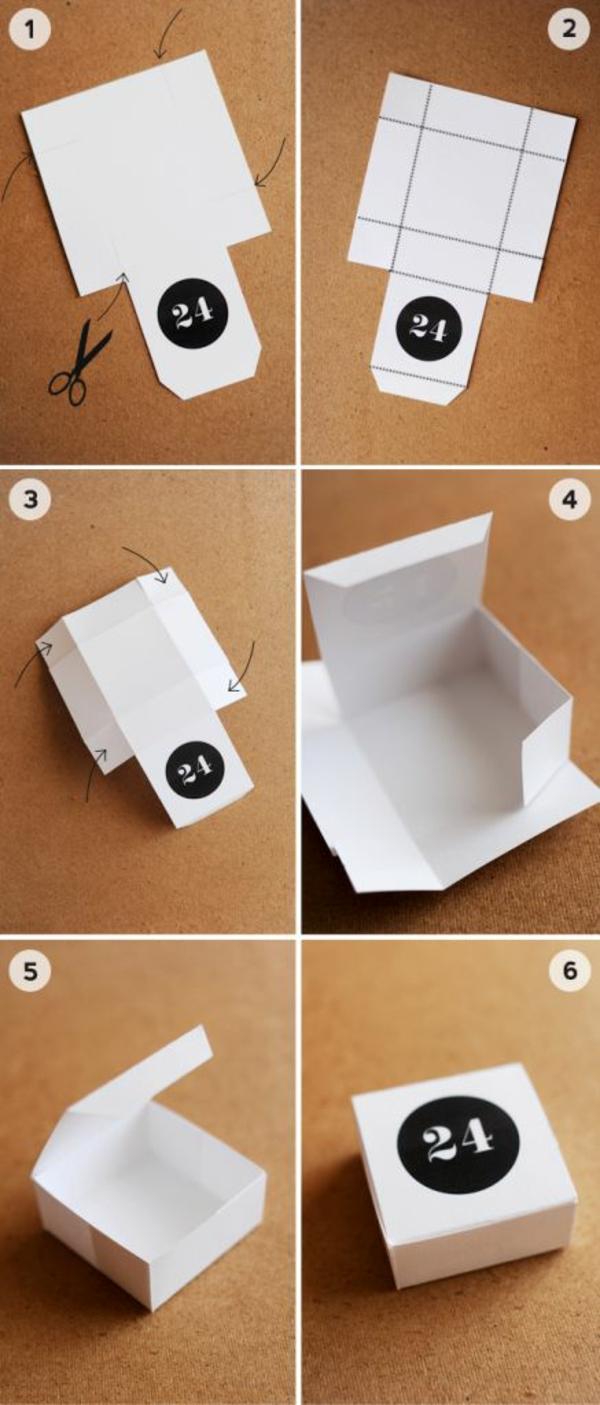 adventskalender selbst gestalten einfache bastelideen f r. Black Bedroom Furniture Sets. Home Design Ideas