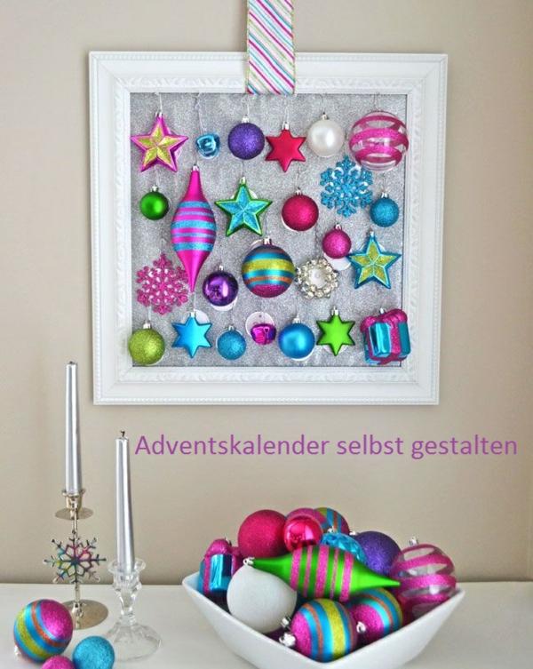 adventskalender selber basteln weihnachtskugeln adventskalender für erwachsene