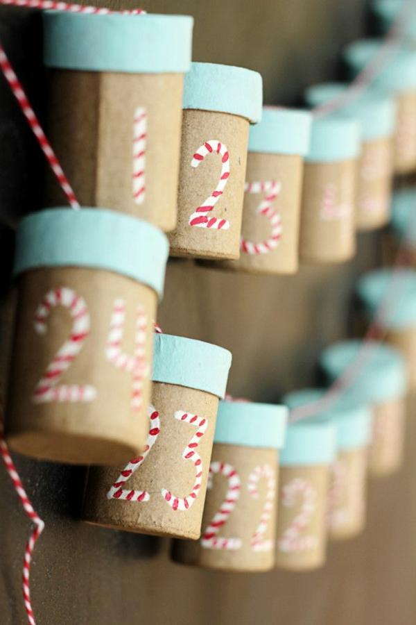 adventskalender selbst gestalten adventskalender füllen bastelideen aus pappe