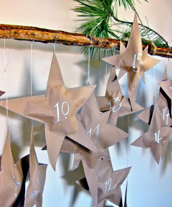 Lieblich Adventskalender Selbst Gestalten Basteln Mit Papier Sterne
