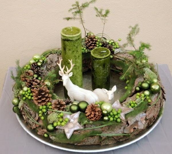 Tischdeko naturmaterialien winter  ▷ 1001+ Adventskranz Ideen und Bilder für Ihre Weihnachtsdeko