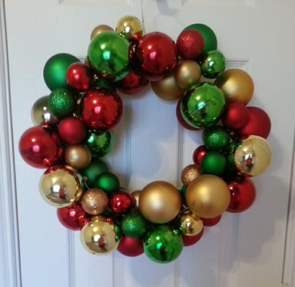 adventskränze weihnachtskugeln adventskranz bilder
