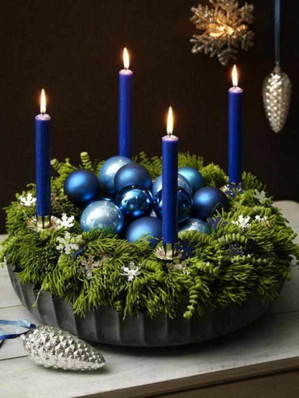 adventskranz basteln adventskranz bilder weihnachtsdeko kerzen kugeln