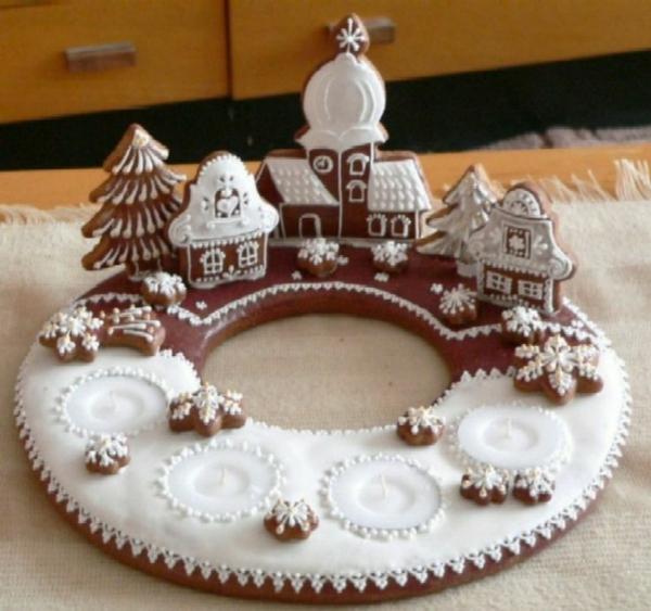 adventskranz basteln adventskranz bilder weihnachtsdeko kuchen backen