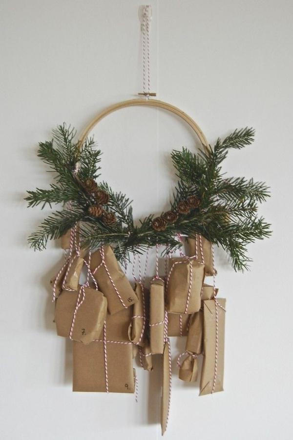 adventskranz basteln geschenke adventskranz hängend