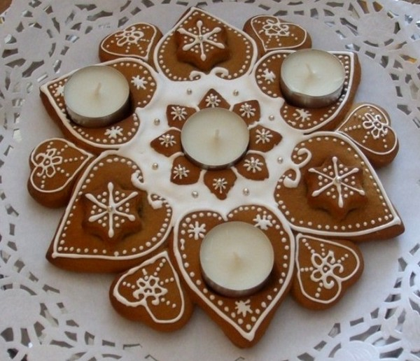 adventskranz bilder teelichter lebkuchen adventskranz ideen