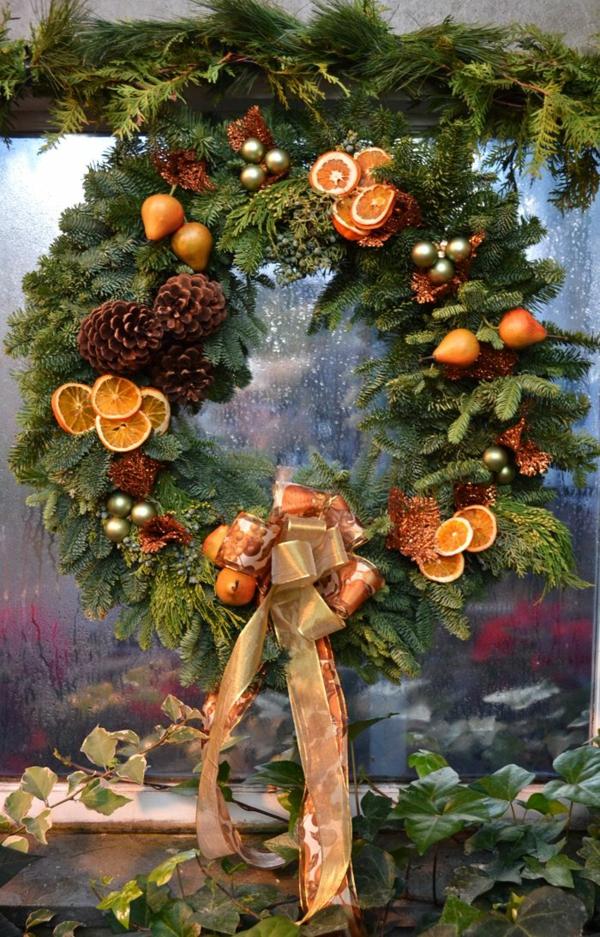 adventskranz ideen weihnachtsdeko basteln adventskranz bilder
