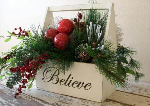 50 neue weihnachtsgestecke selber machen for Gestecke basteln weihnachten