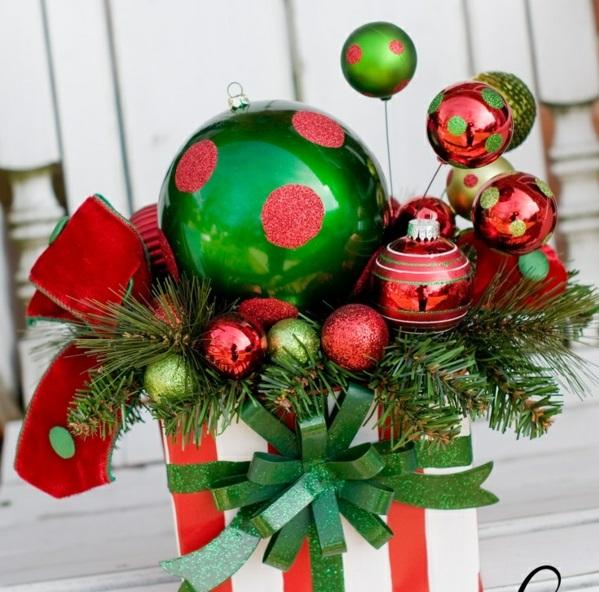 adventskranz modern gestecke basteln weihnachten grün rot