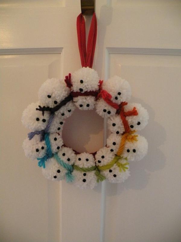 adventskranz modern türkranz weihnachten weihnachtliches basteln