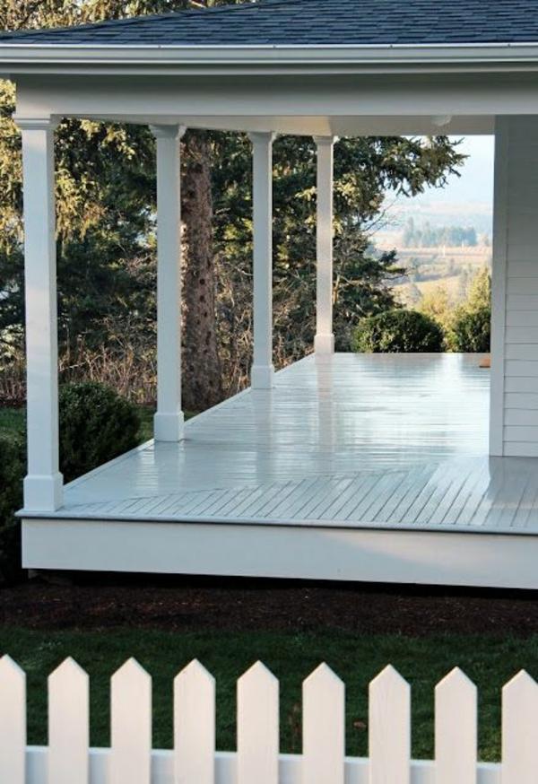 amerikanische holzhäuser mit vorbau veranda bauen holzterrasse