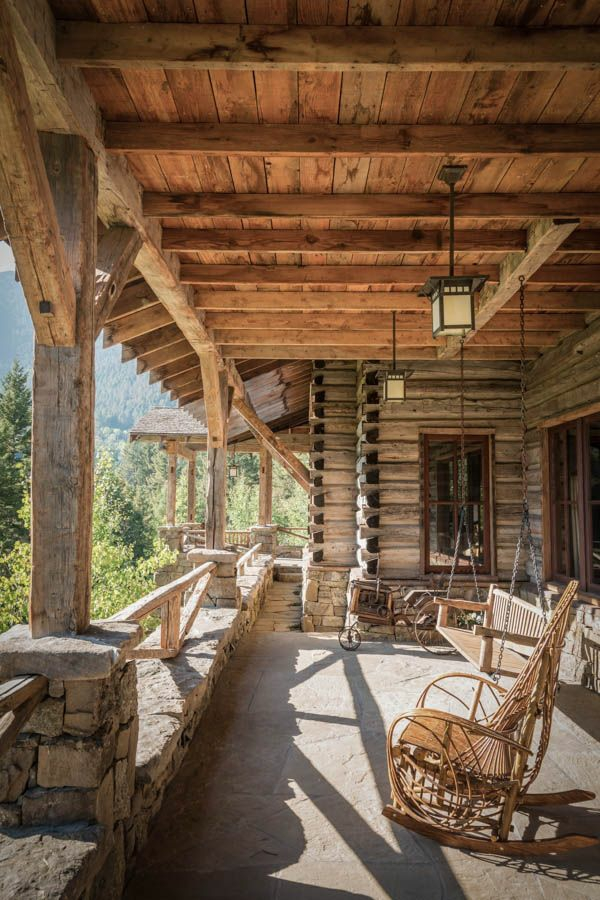 amerikanisches holzhaus landhaus mit vorbau veranda selber bauen berghütte