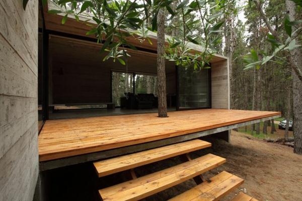 Wie k nnen sie eine veranda bauen anleitung und - Maison wooden concrete nestor sandbank ...