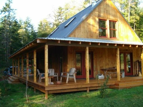 Wie k nnen sie eine veranda bauen anleitung und American barn style kit homes