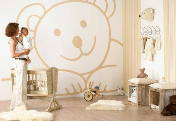 babyzimmer gestalten bär motive