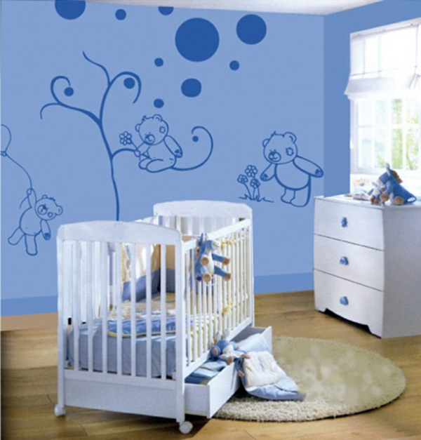 babyzimmer gestalten w nde. Black Bedroom Furniture Sets. Home Design Ideas