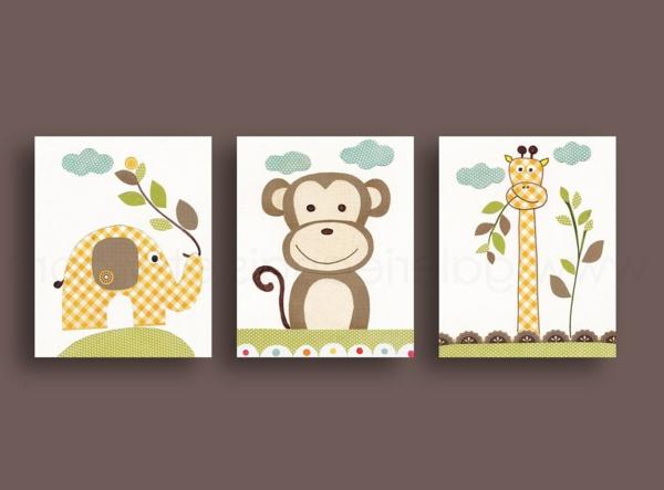 Babyzimmer Gestalten - süße Tier Muster für Ihre Kleinen
