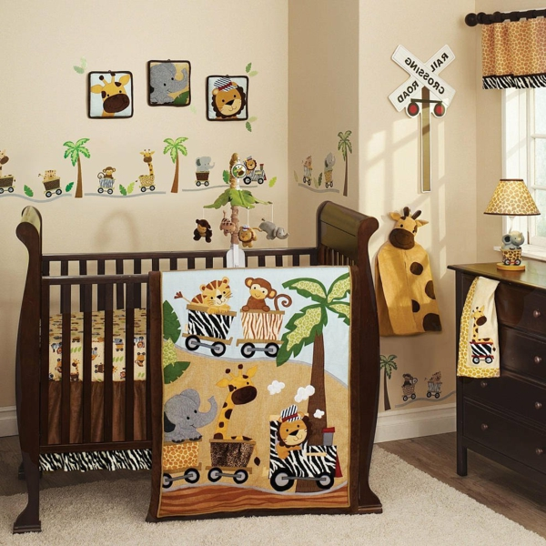 babyzimmer gestalten elefant giraffe löwe