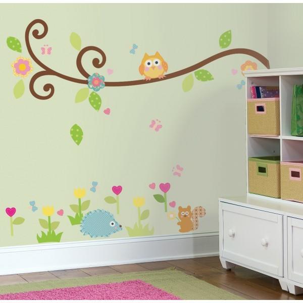 Babyzimmer deko eule  Babyzimmer Gestalten - süße Tier Muster für Ihre Kleinen