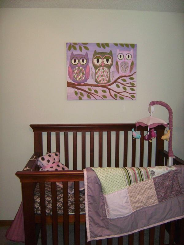 babyzimmer gestalten eulen bild