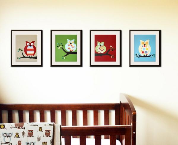 Babyzimmer gestalten s e tier muster f r ihre kleinen - Eulen gestalten ...