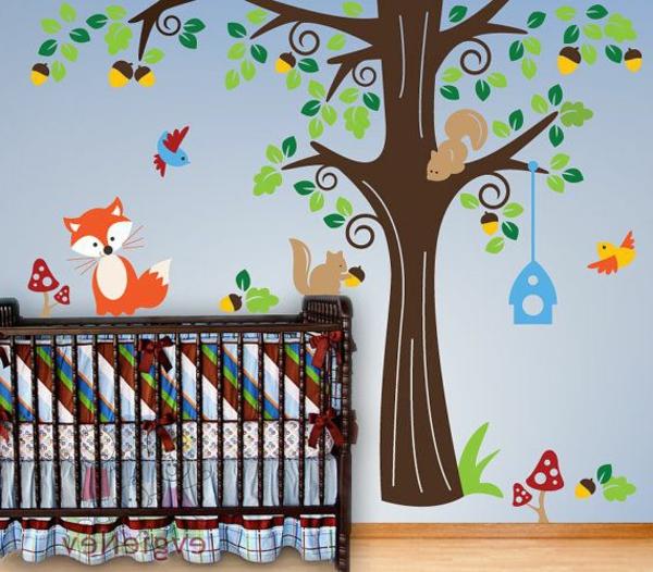 babyzimmer gestalten fuchs eichhörnchen