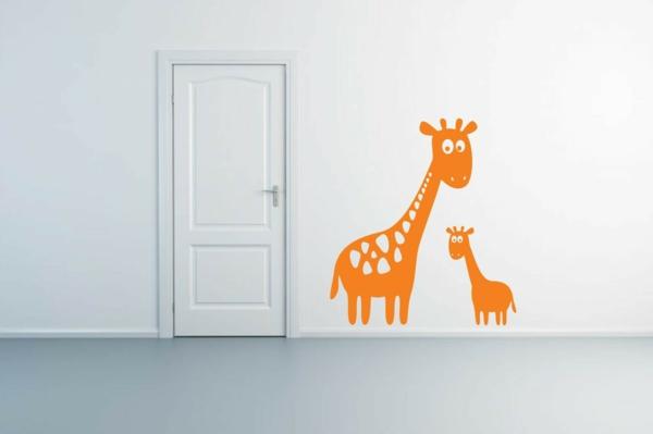 Kinderzimmer wandgestaltung giraffe  Babyzimmer Gestalten - süße Tier Muster für Ihre Kleinen
