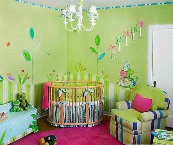 babyzimmer gestalten - süße tier muster für ihre kleinen - Kinderzimmer Grun Gestalten