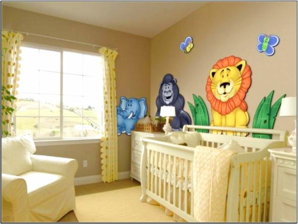 babyzimmer gestalten große tiere