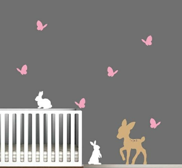 babyzimmer gestalten hasen reh